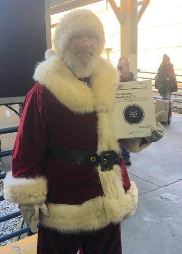 With Santa Claus at Washington DC's Union Station