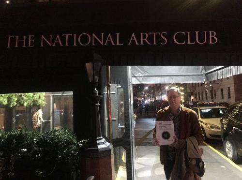 At the National Arts Club in NYC with Armand Musey